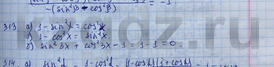 Алгебра Абылкасымова 9 класс  Упражнение 313