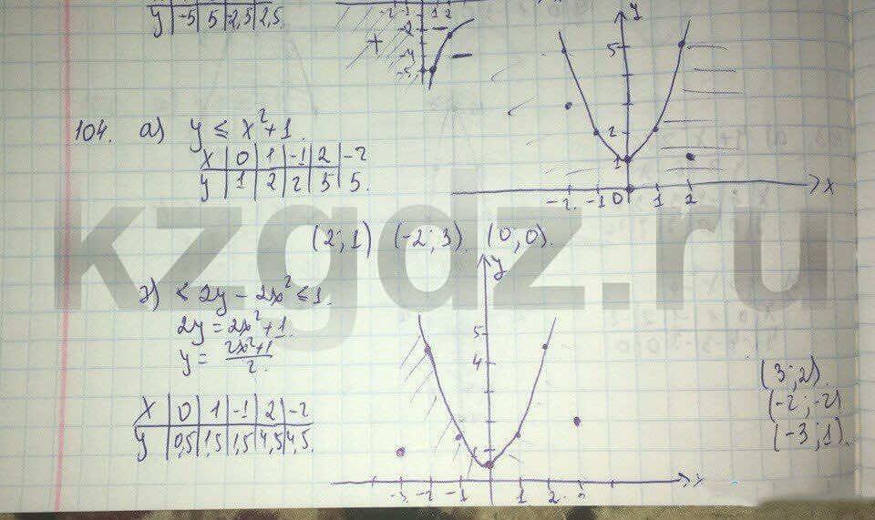 Алгебра Абылкасымова 9 класс  Упражнение 104