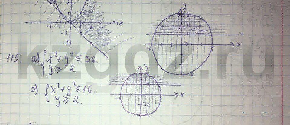 Алгебра Абылкасымова 9 класс  Упражнение 115