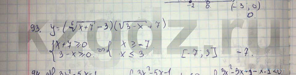 Алгебра Абылкасымова 9 класс  Упражнение 93