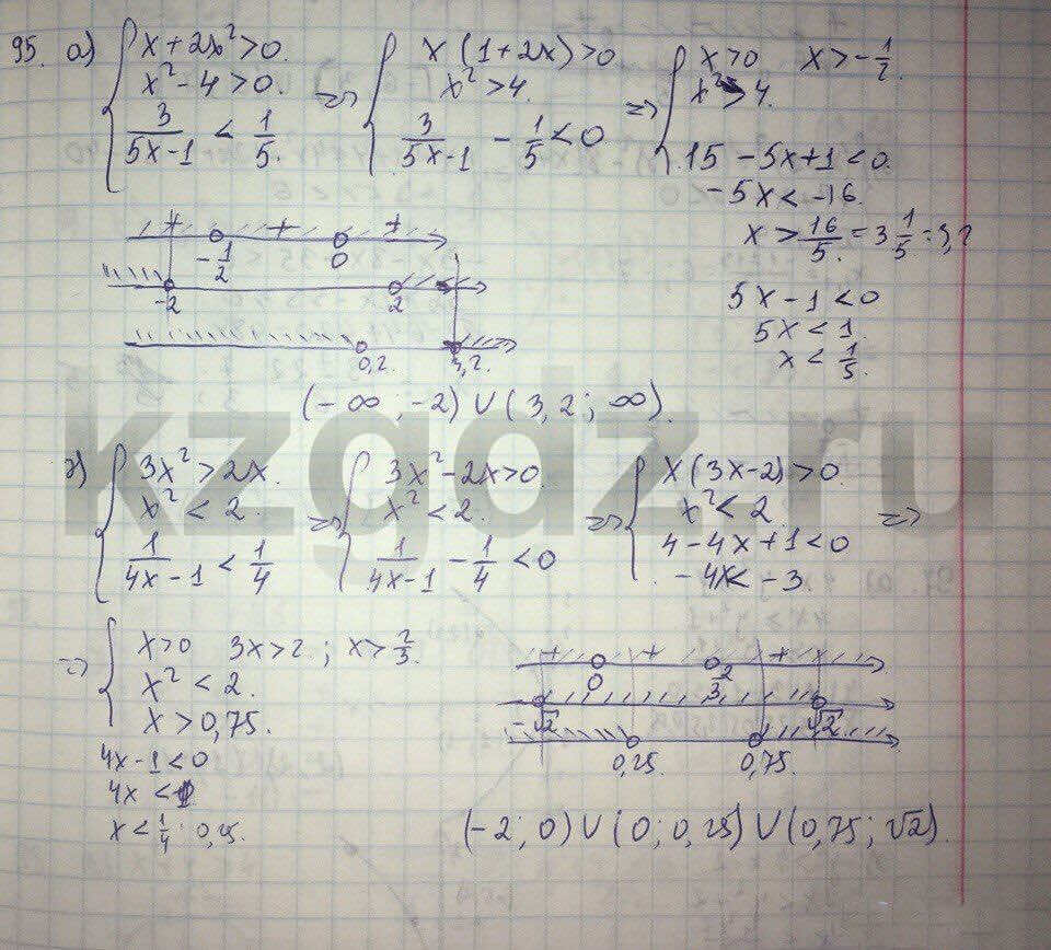 Алгебра Абылкасымова 9 класс  Упражнение 95