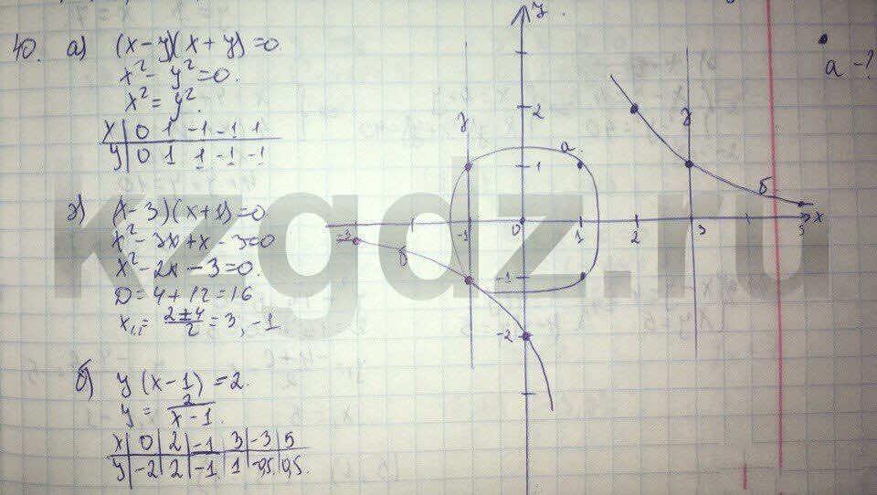 Алгебра Абылкасымова 9 класс  Упражнение 40