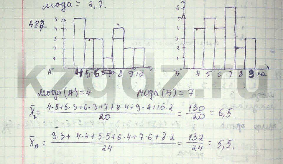 Алгебра Абылкасымова 9 класс  Упражнение 487