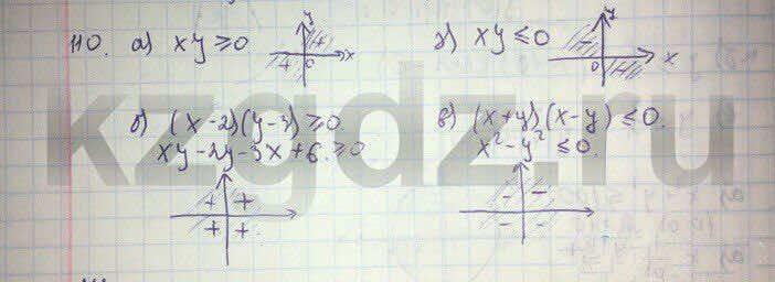 Алгебра Абылкасымова 9 класс  Упражнение 110