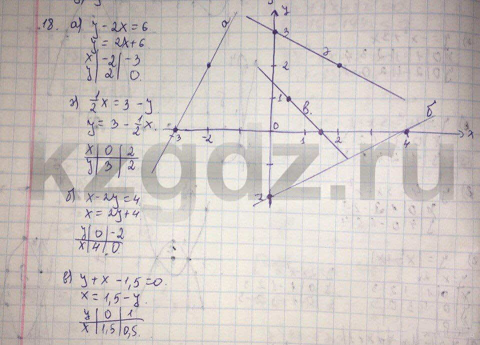Алгебра Абылкасымова 9 класс  Упражнение 18