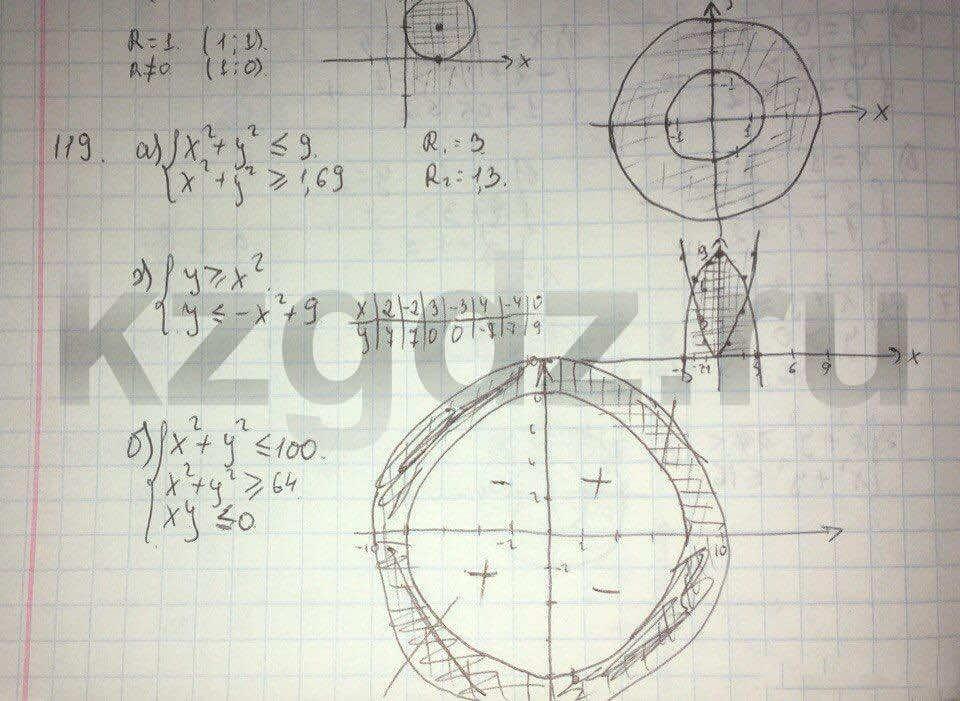 Алгебра Абылкасымова 9 класс  Упражнение 119