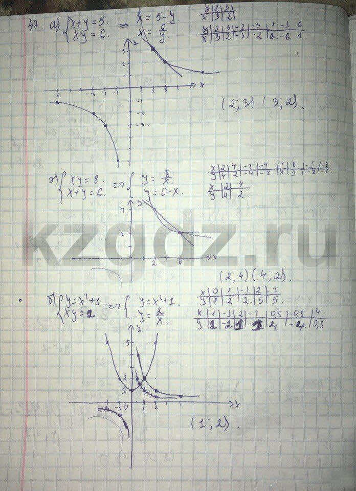 Алгебра Абылкасымова 9 класс  Упражнение 47