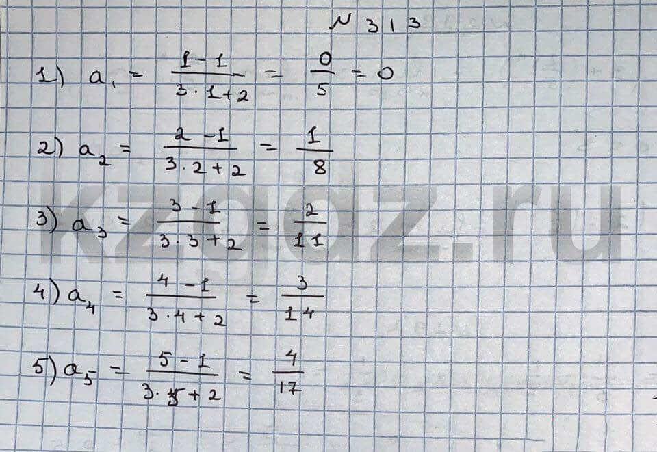 Алгебра Шыныбеков 9 класс   Упражнение 313