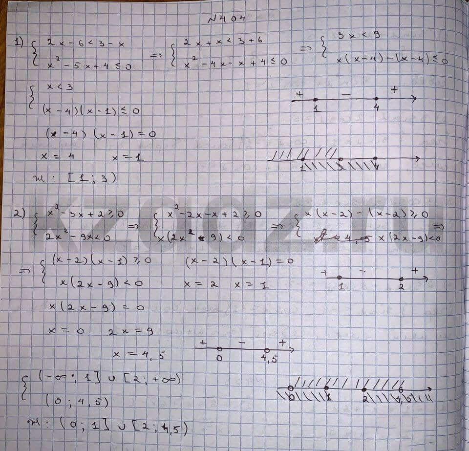 Алгебра Шыныбеков 9 класс   Упражнение 404