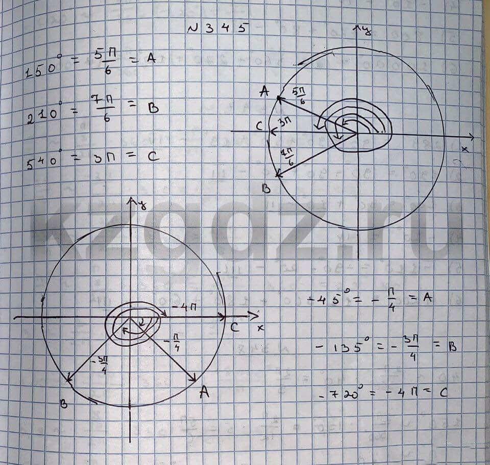 Алгебра Шыныбеков 9 класс   Упражнение 345