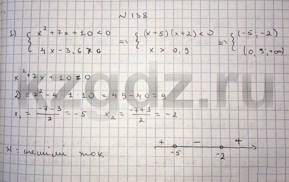 Алгебра Шыныбеков 9 класс   Упражнение 138