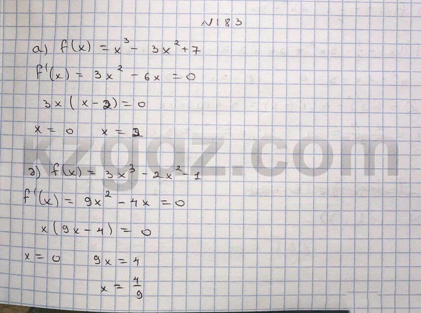 Алгебра Абылкасымова 10 класс Естественно-математическое направление  Упражнение 183