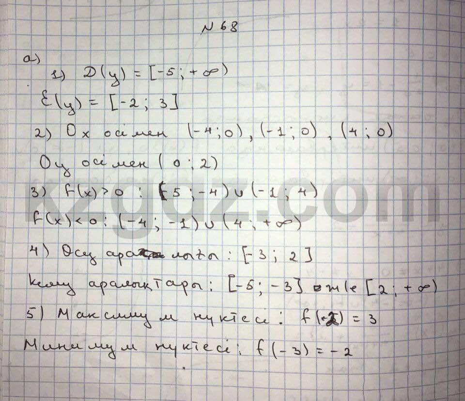 Алгебра Абылкасымова 10 класс Естественно-математическое направление  Упражнение 68