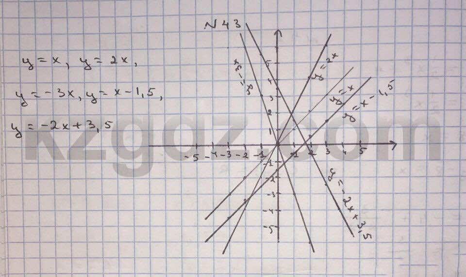 Алгебра Абылкасымова 10 класс Естественно-математическое направление  Упражнение 43