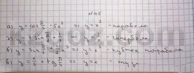 Алгебра Абылкасымова 10 класс Естественно-математическое направление  Упражнение 45