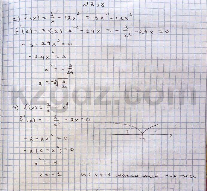 Алгебра Абылкасымова 10 класс Общетвенно-гуманитарное направление  Упражнение 238