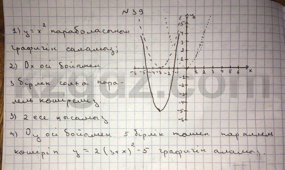Алгебра Абылкасымова 10 класс Общетвенно-гуманитарное направление  Упражнение 39