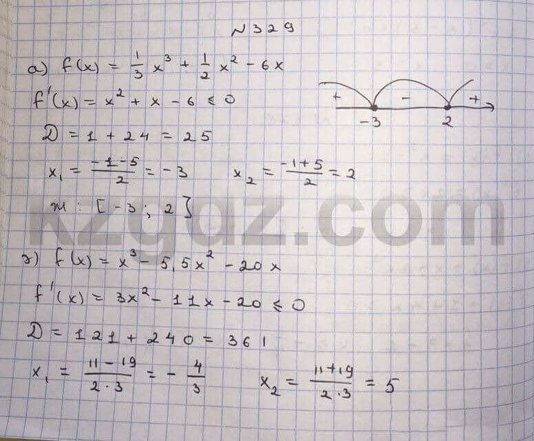 Алгебра Абылкасымова 10 класс Общетвенно-гуманитарное направление  Упражнение 329