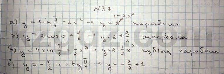 Алгебра Абылкасымова 10 класс Общетвенно-гуманитарное направление  Упражнение 37