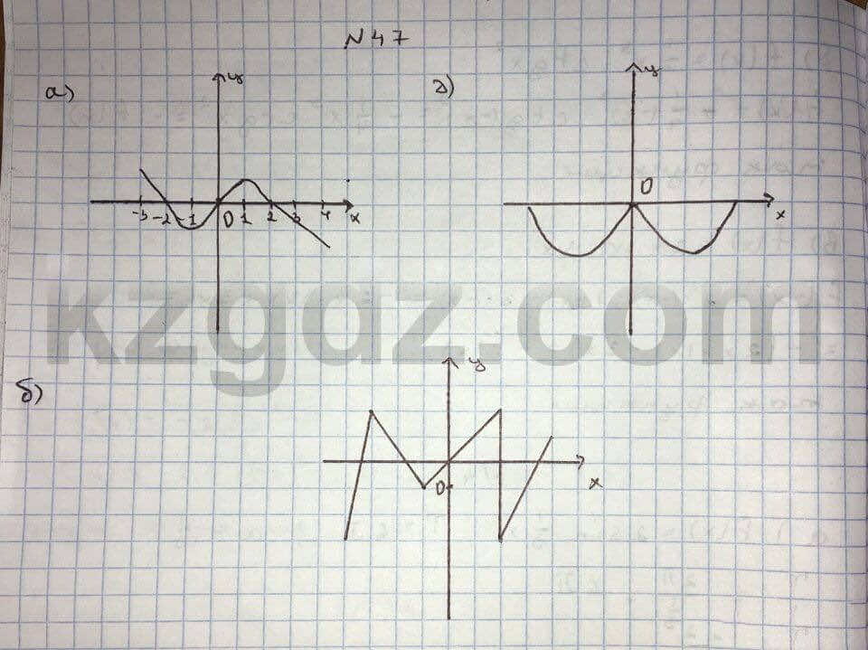 Алгебра Абылкасымова 10 класс Общетвенно-гуманитарное направление  Упражнение 47