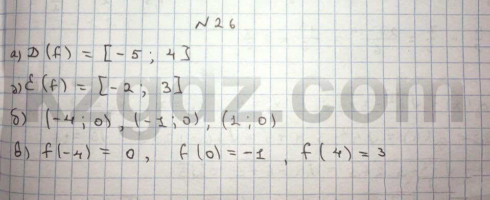 Алгебра Абылкасымова 10 класс Общетвенно-гуманитарное направление  Упражнение 26
