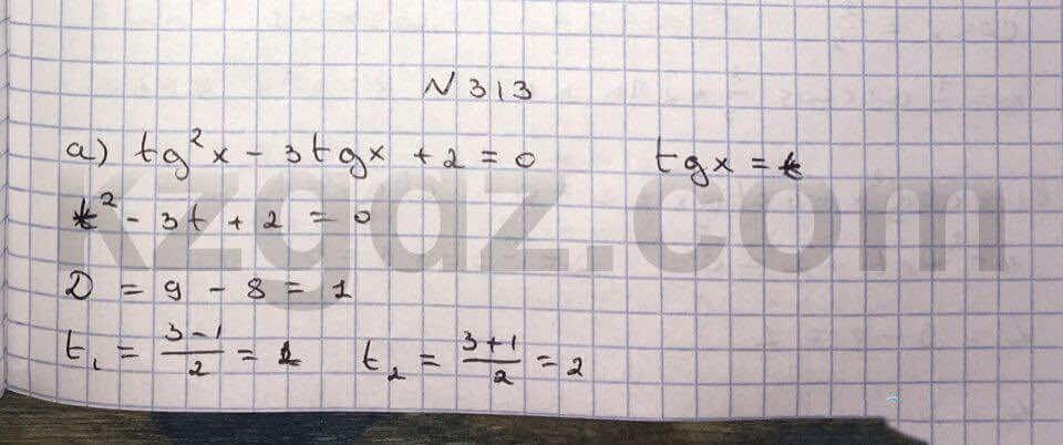 Алгебра Абылкасымова 10 класс Общетвенно-гуманитарное направление  Упражнение 313